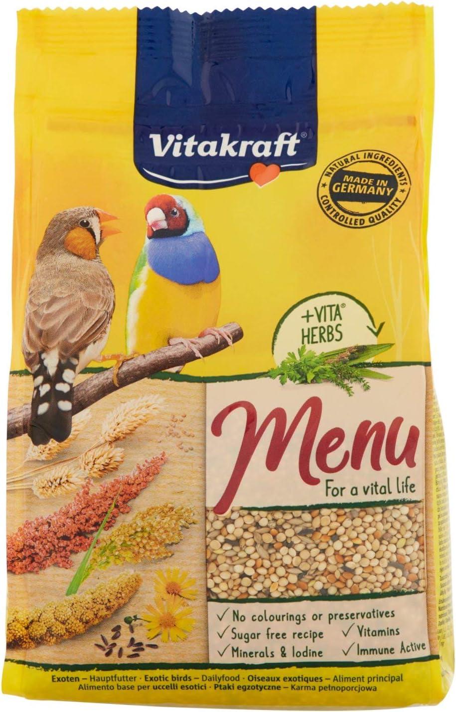VITAKRAFT alimento completo para pájaros exóticos bolsa 500 gr