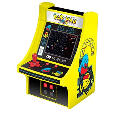 My Arcade Micro Player Mini Arcade Machine: Pac-Man Video Game, Fully Playable, 6.75 Inch Collectible, Color Display, Speaker, Volume Buttons, Headphone Jack, Battery or Micro USB Powered: Toys & Games