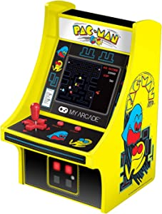 My Arcade Micro Player Mini Arcade Machine: Pac-Man Video Game, Fully Playable, 6.75 Inch Collectible, Color Display, Speaker, Volume Buttons, Headphone Jack, Battery or Micro USB Powered