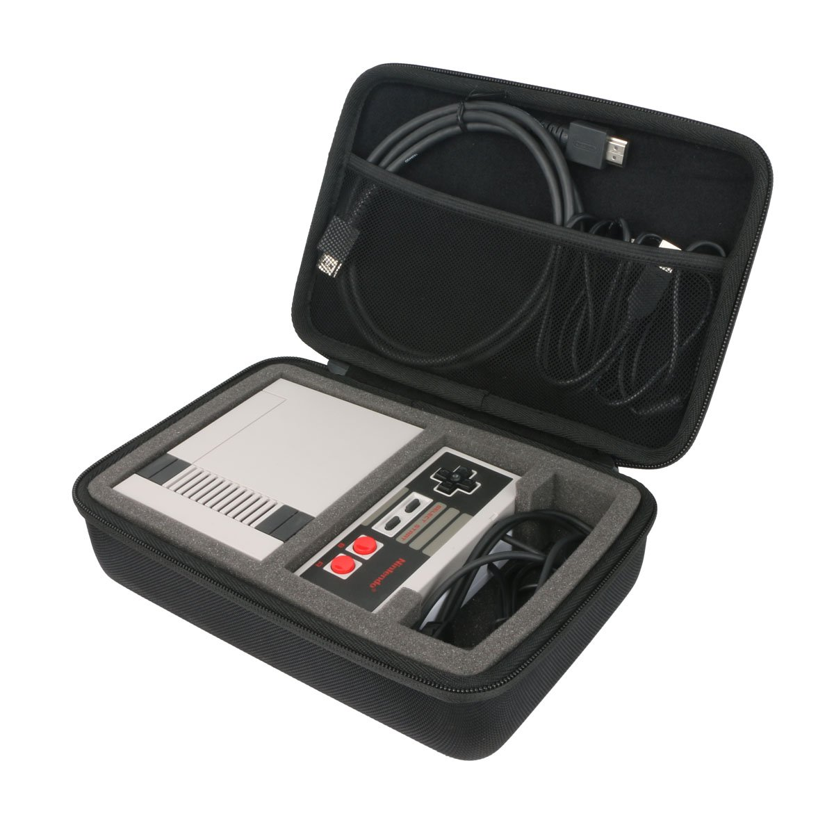 Khanka Hard Case for Nintendo Entertainment System Ortz 10 Feet NES Classic Edition Mini Controller [TURBO EDITION] Rapid Buttons