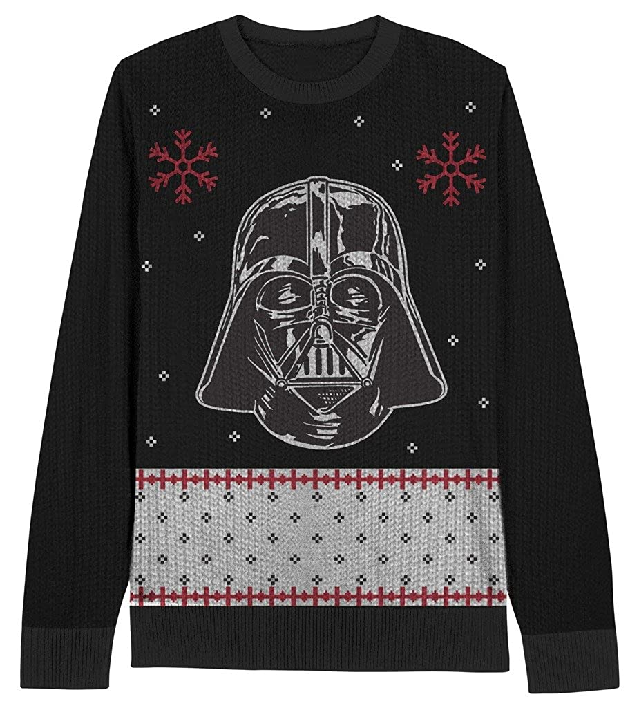 Star Wars Darth Vader visage jeunesse Noir Laid Noël Sweater