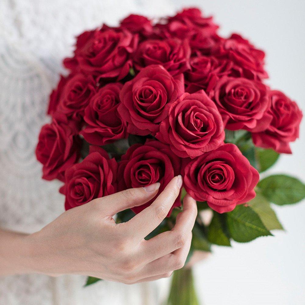 giallo StarLifey 5 PCS Beauty Fake Girasoli Bouquet di fiori di seta artificiale Home Garden Fence Decoration