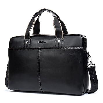 Porte-documents pour Hommes Unives Véritable Cuir Sac à Bandoulière Messenger Bag Business Sac pour Ordinateur Portable r7DeO