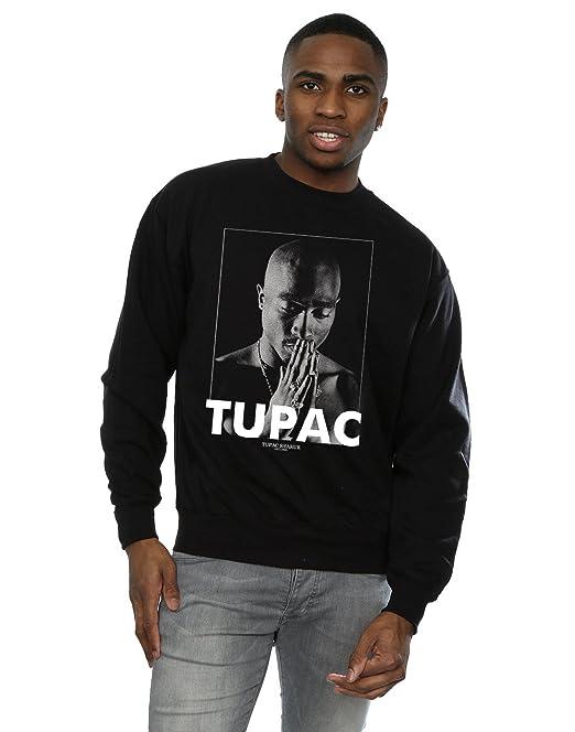 46dc01e08 2Pac Hombre Tupac Shakur Praying Camisa De Entrenamiento  Amazon.es  Ropa y  accesorios