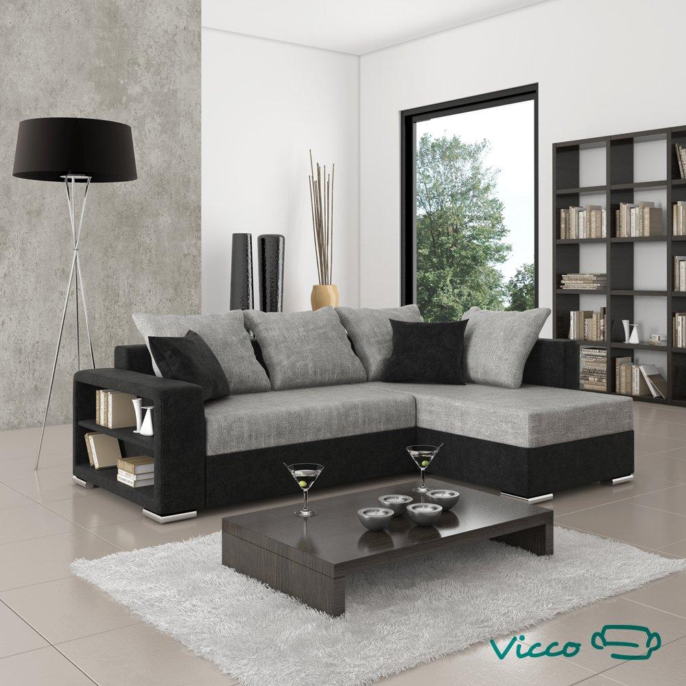 Amazing Amazing Vicco Sofa Couch Ecksofa Houston Schlafsofa Schwarzgrau  Eckcouch Amazonde Kche U Haushalt With Ecksofa Wei Grau With Eckcouch Wei
