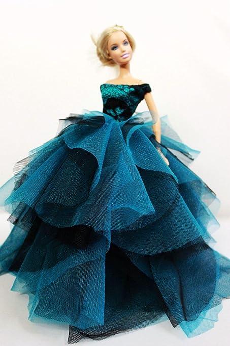 Amazon.com: Cora Gu Strapless Classic Lace Dress/Gowns For Barbie ...