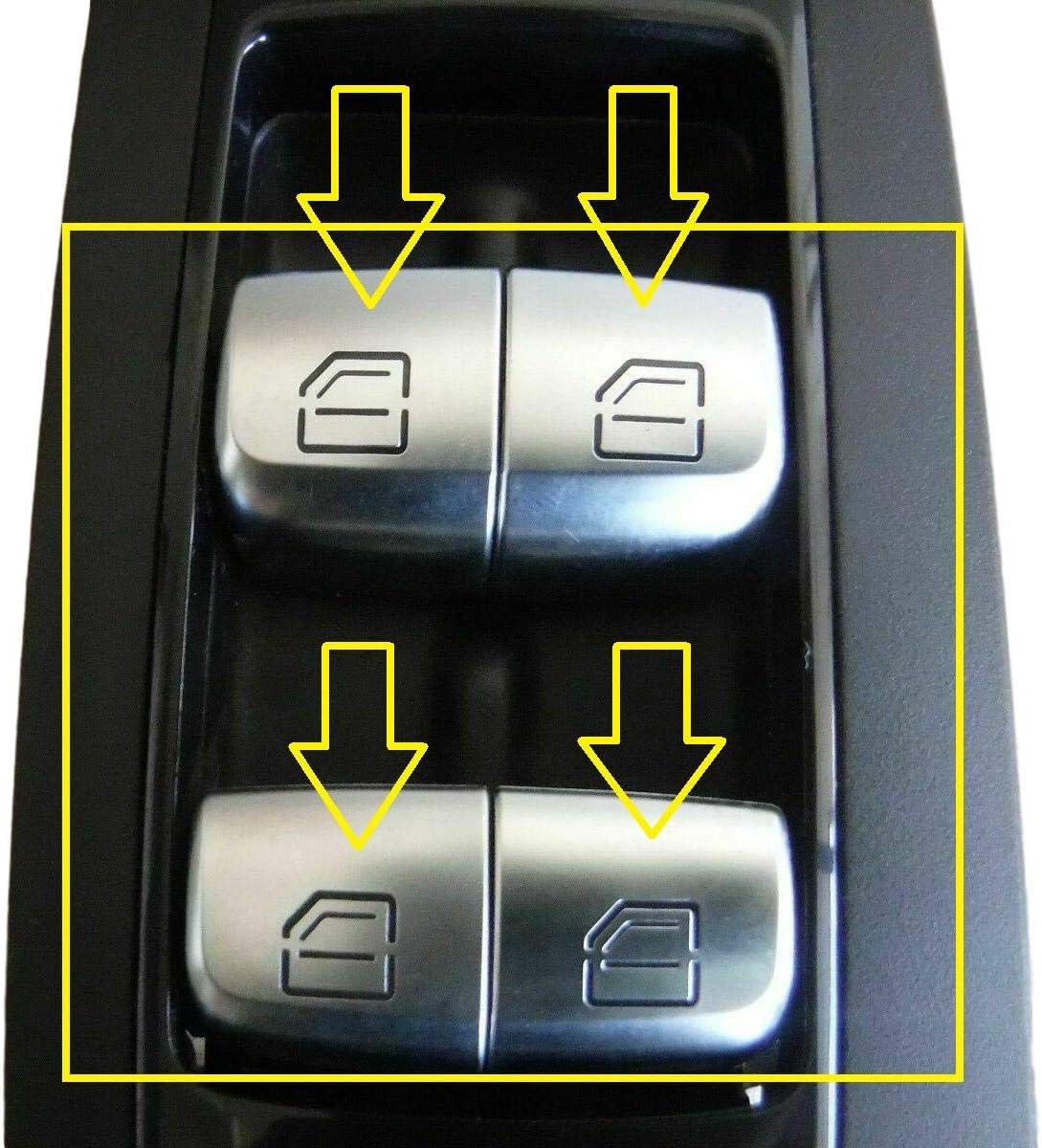 HLY/_Autoparts 2 Pcs Interrupteur De Fen/être Bouton De R/éparation Capuchon pour Mercedes Benz Classe C W205 A2139050000
