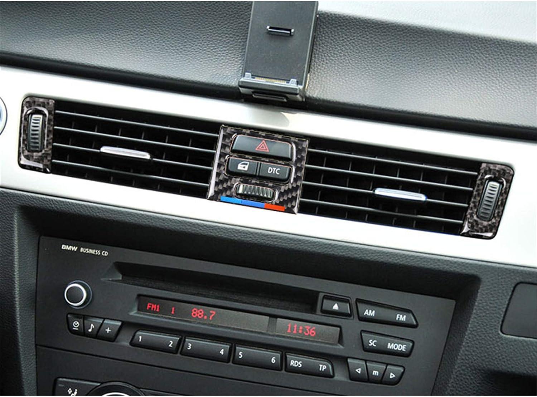 Carbon Fiber Air Conditioning AC Air Vent Outer Panel Frame Decal Cover Trim for BMW 3 Series 5th E90 E91 E92 E93 315 318 320 323 325 328 2005-2013 BMW179 A Style