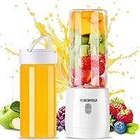 Portable Personal USB Blender, Household Juicer Fruit Shake Mixer -Six Blades,Travel Blender Small Fruit Mixer…
