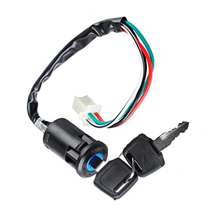 amazon com: poweka ignition switch with key for 50cc 70cc 90cc 110cc 150cc  200cc 250cc chinese atv quad: automotive