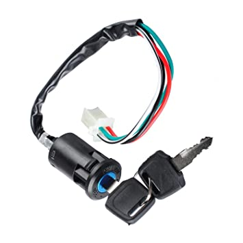 Poweka Ignition Switch with Key for 50cc 70cc 90cc 110cc 150cc 200cc on