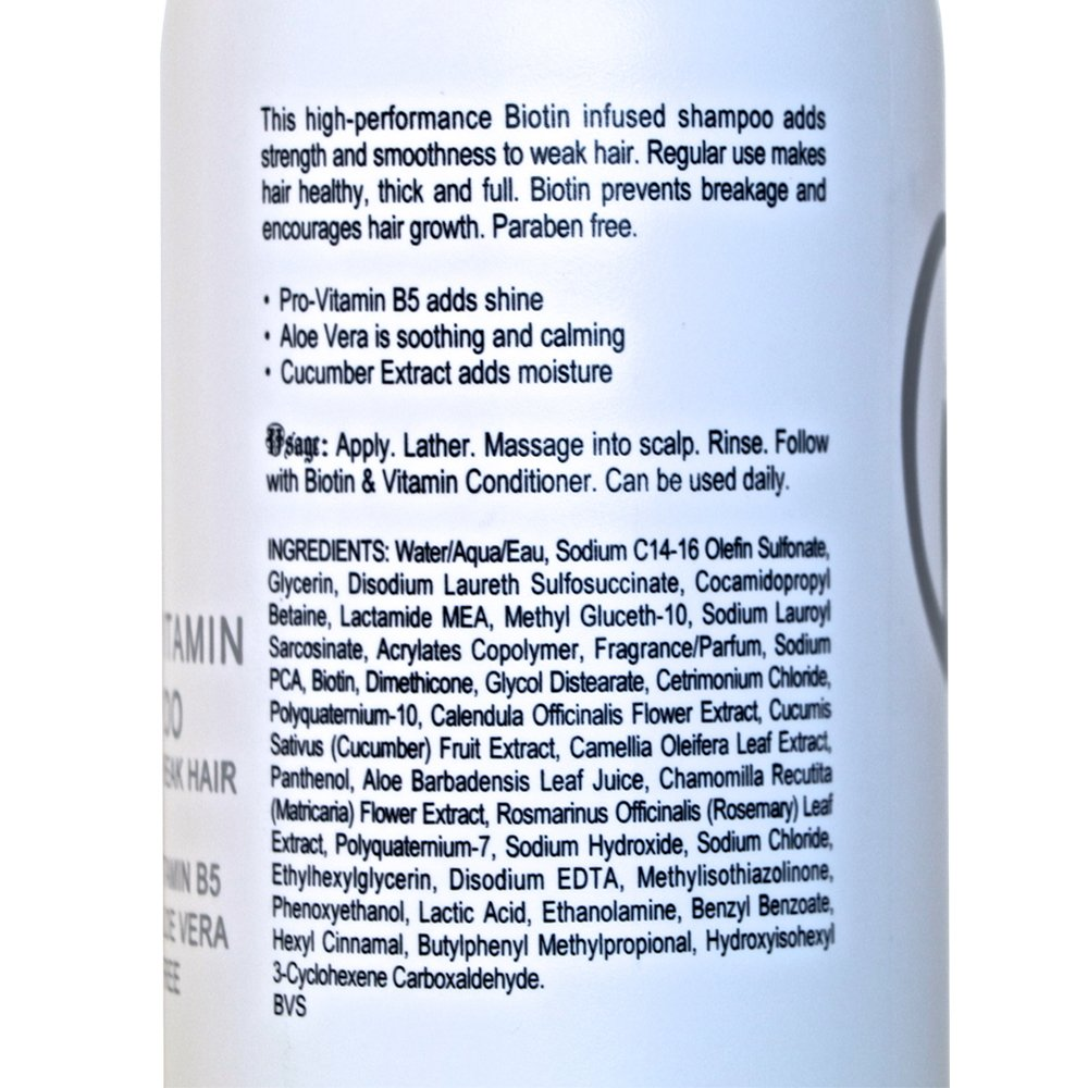 Biotin Hair Growth Shampoo-Biotin Vitamin Shampoo For Hair Loss And Thinning Hair, Sulfate Free Aloe Vera Cucumber Extract With Pro Vitamin B, B. the product 8.5oz. by B THE PRODUCT (Image #6)