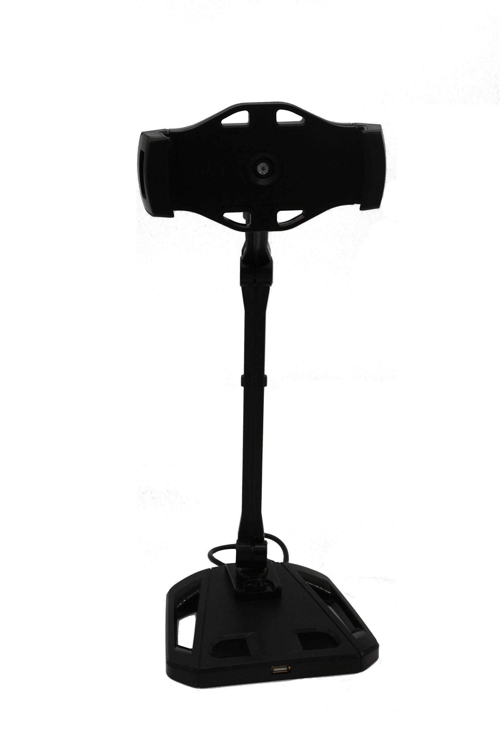 Kingotic Long Arm Tablet Stand Adjustable Stand Desktop Stand Holder (Black)