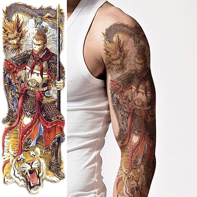 Oottati Impermeable 4 Hojas Tatuaje Temporal Tattoo Brazo Completo ...