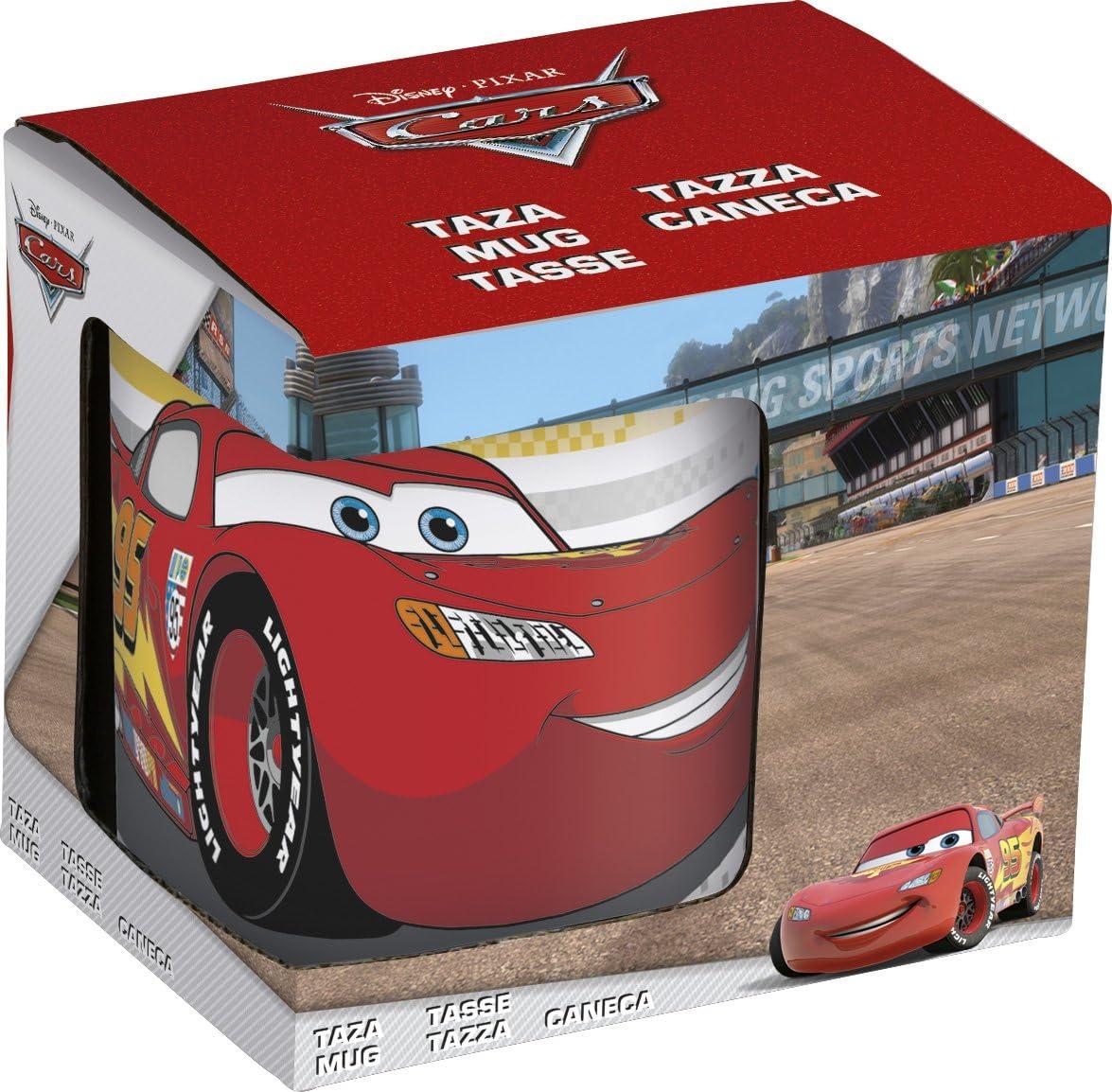 Cars Taza promo ceramica 11 oz en estuche (Stor 46105): Amazon.es: Juguetes y juegos