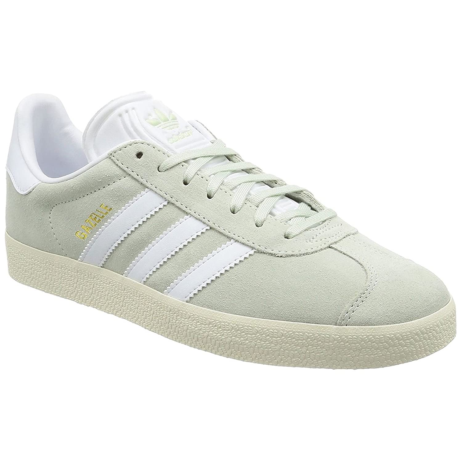 adidas Men's Gazelle Casual Sneakers B076MF85FZ 12 D(M) US|Linen Green Footwear White