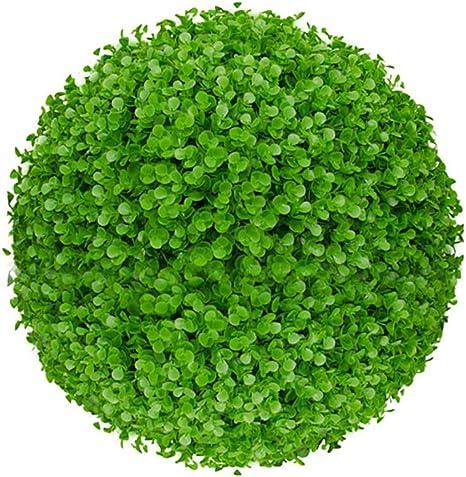 KSTORE Simulación Bola de eucalipto Planta Verde Hierba Verde Boda de la Bola del Hotel jardín decoración Vegetal Techo Bola Bola decoración de Flores,40cm: Amazon.es: Hogar