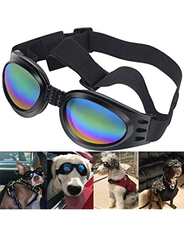 1949b8c5b05 QUMY Dog Goggles Eye Wear Protection Waterproof Pet Sunglasses for Dogs  About Over 15 lbs