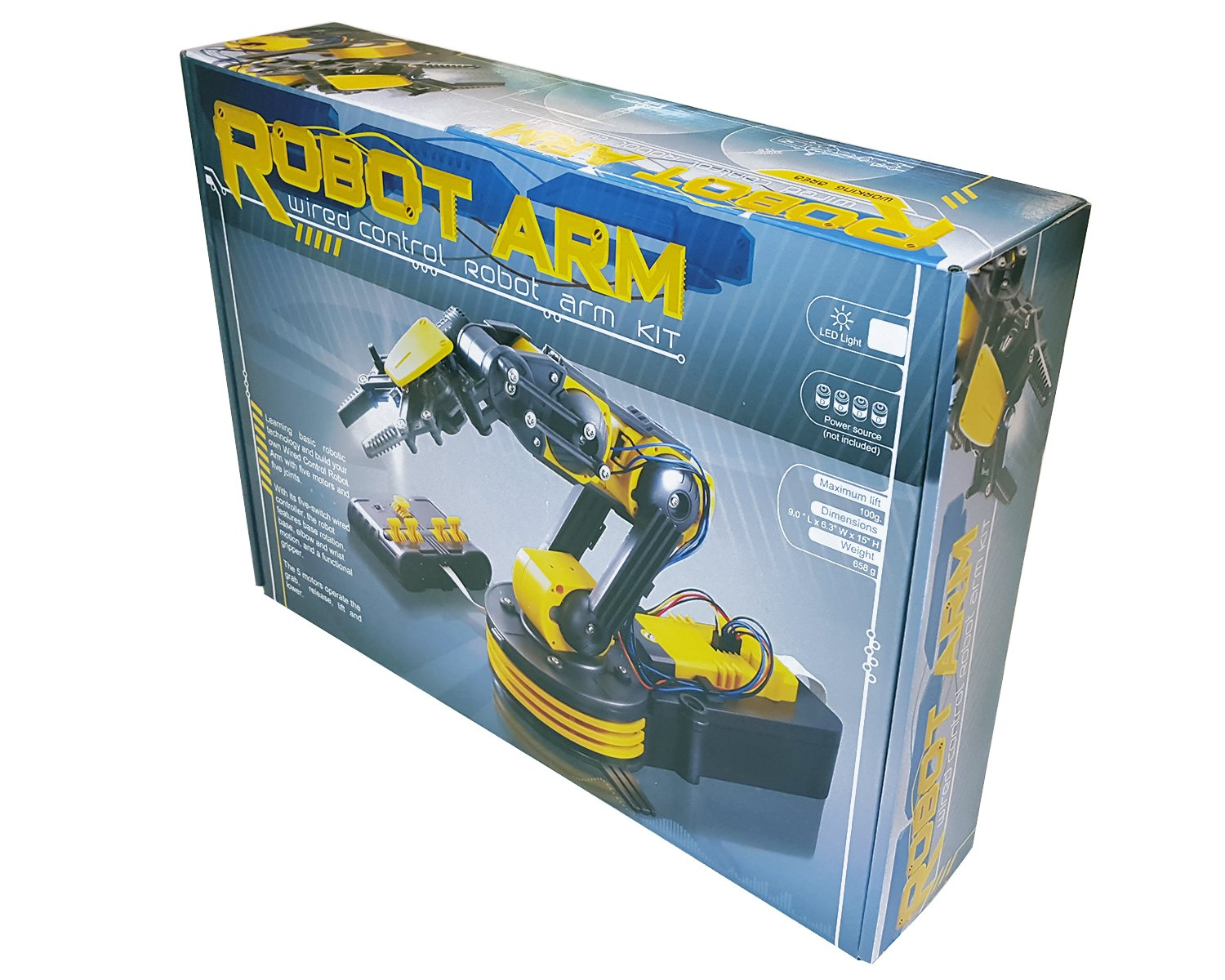 Circuit-Test Robotic Arm Edge Kit with Wired Controller - Learn Robotics Educational Kit by Circuit-Test (Image #4)