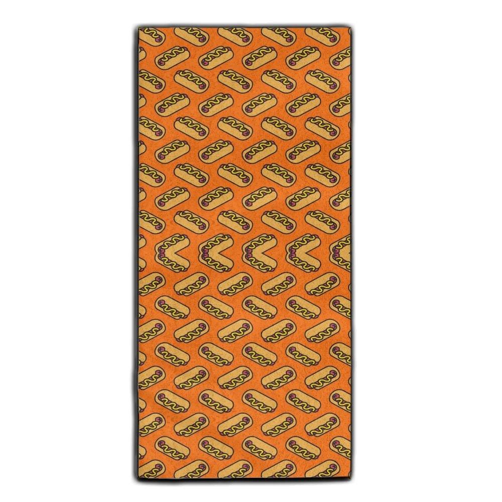 Pattern Hotdogs Super Absorbent Microfiber Hair Towel Sports Towel Gym Towel Fast Drying Edgar Bell