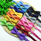 VICTHY Etop Colorful Polka Dots Bow Tie,Pet Dog Cat Adjustable Bowtie Fashion Accessories Green