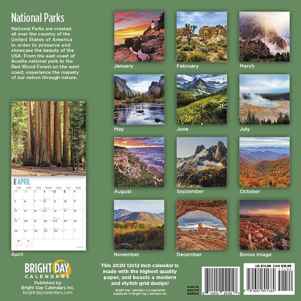 2020 Seasons Calendar 16 Month 12 x 12 Wall Calendar by Bright Day Calendars
