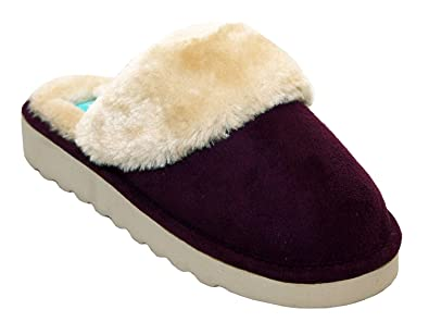 Ladies Faux Fur Slipper Boots Comfy Warm Cosy Slip on Luxury Winter Mules Shoes