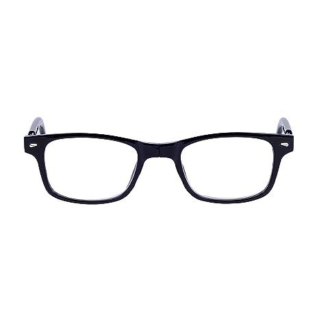 QIXU Magnetiques Lunettes de Lecture Presbyte 1.0 pour Homme et Femme  Aimantées Lunettes pour Lire Pliables Régables Monture Noir Lens  Transparentes ... 641ca32f0e0f