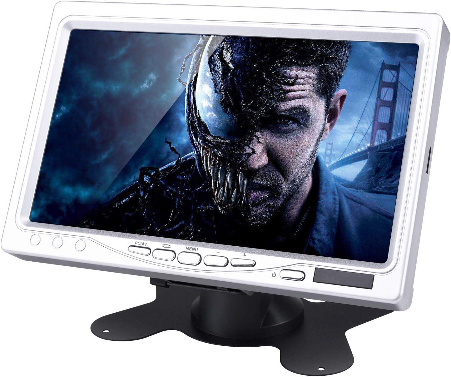 STARTO 7 Inch LCD Screen Monitor Hdmi Pantalla TFT Pantalla de Computadora 1024x600 para PC Portátil Raspberry Pi 3 2B B RPi 1 B + A + con Entrada HDMI/VGA/AV DVD VCR