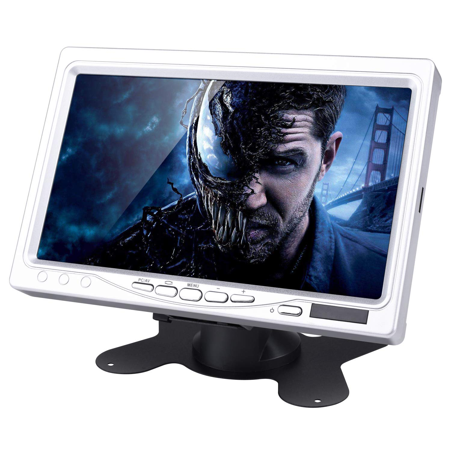 7 Inch HD Display, STARTO 1024x600 TFT LCD Screen Computer Monitor with AV/VGA/HDMI Input for PC Computer DVR VCR Car, Compatible with Raspberry Pi 3 2 1 Model B B+ TS07