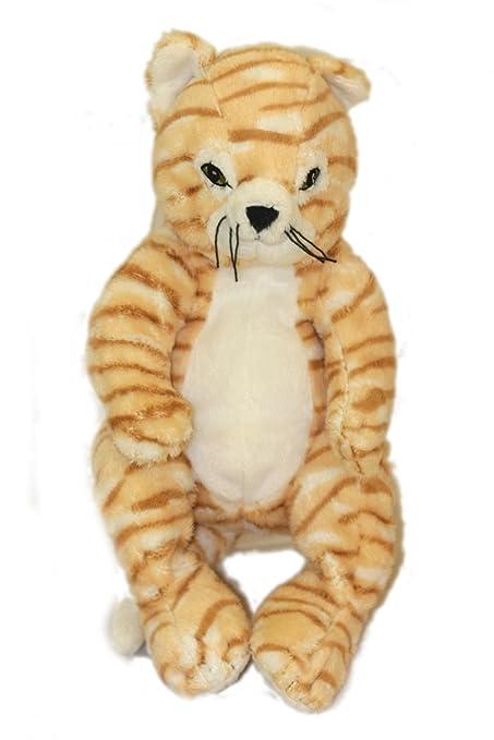 Peluche doudou Tigre Chat IKEA Gosig Katt Marron roux Beige Blanc Tigré 30 cm