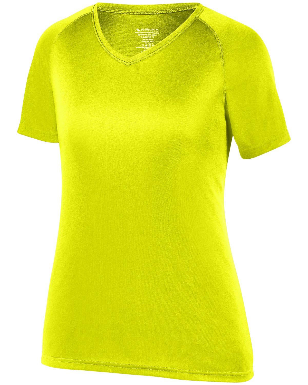 Augusta SportswearレディースAttain Wickingシャツ B075MGFVQX Ex Small|イエロー(Safety Yellow) イエロー(Safety Yellow) Ex Small