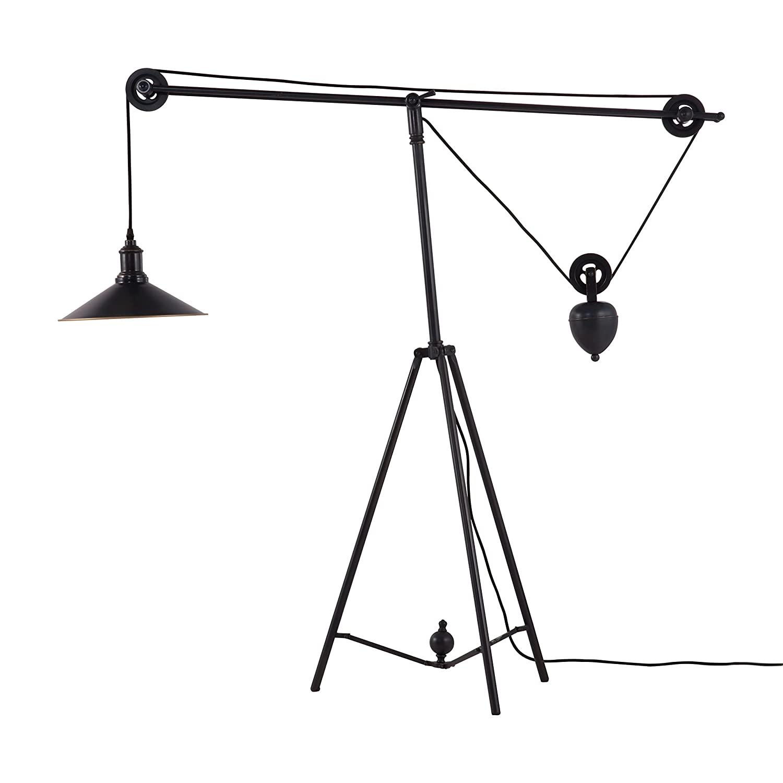 Zuo Modern 98235 Jasper Floor Lamp, Antique Black Gold   Pulley Floor Lamp    Amazon.com