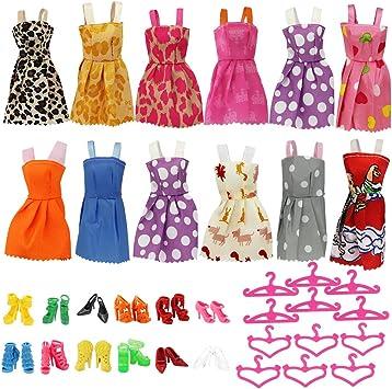 Amazon.es: HTINAC Ropa para Barbie, Accesorios Hecho a Mano de ...