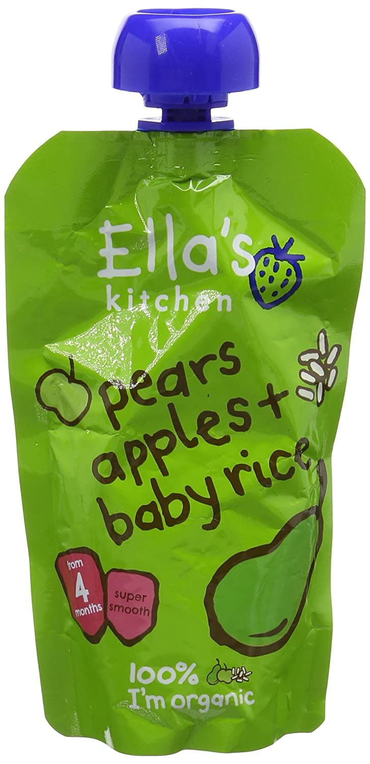 Ella's Kitchen Stage 1 Organic Apple and Pear Baby Rice (Pack of 7) Ella' s Kitchen 69135