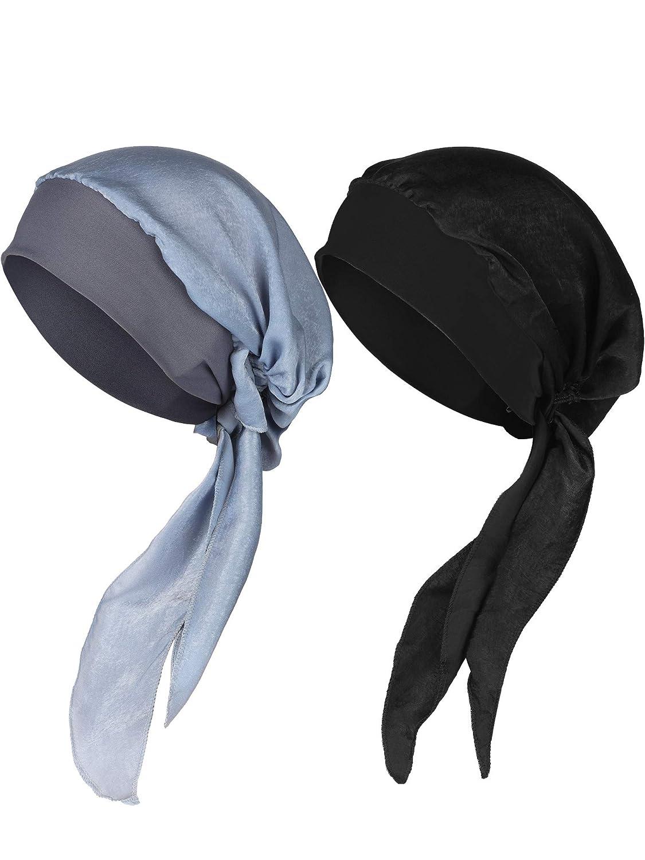 Pre Tied Bandana Turban Chemo Kopf Schal Schlaf Haar Abdeckung Hut Elastische Headwear Turban Kopf Schals,EINWEG Verpackung Amorar Chemotherapie Hut