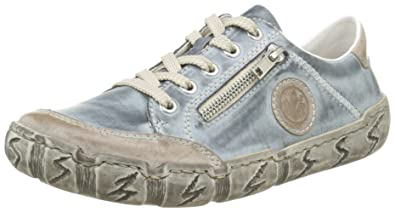 0e2b4b554f40 Rieker L0314 Women Low-Top, Damen Sneakers, Blau (steel royal
