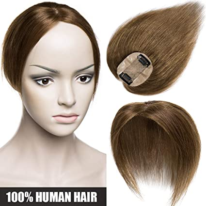 Extensiones de Cabello Natural Clip [Hand-Tied Silk Top Base: 6 * 9cm