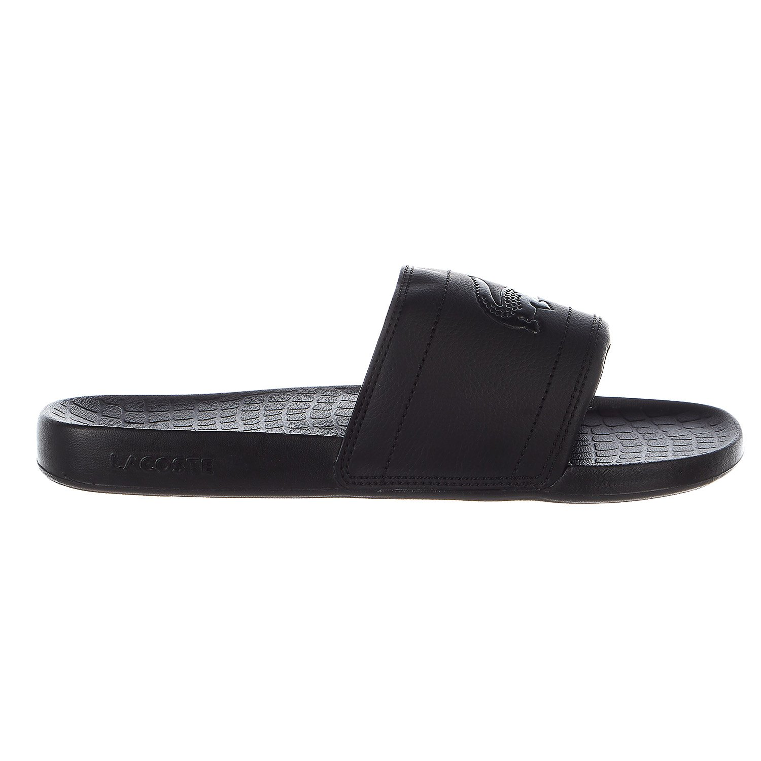 Lacoste Men's Fraisier Slides 118 1 US, Black/Black synthetic, 11 M US by Lacoste