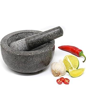 Porcelaine//Granite Pilon et Mortier Spice Herb Crusher Broyeur BROYAGE PÂTE Bol