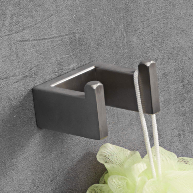 LuckIn Brushed Nickel Bathroom Accessories Set, Modern Style Towel Bar Set, 4-PCS Bath Hardware Set for Bathroom Remodel by LuckIn (Image #6)