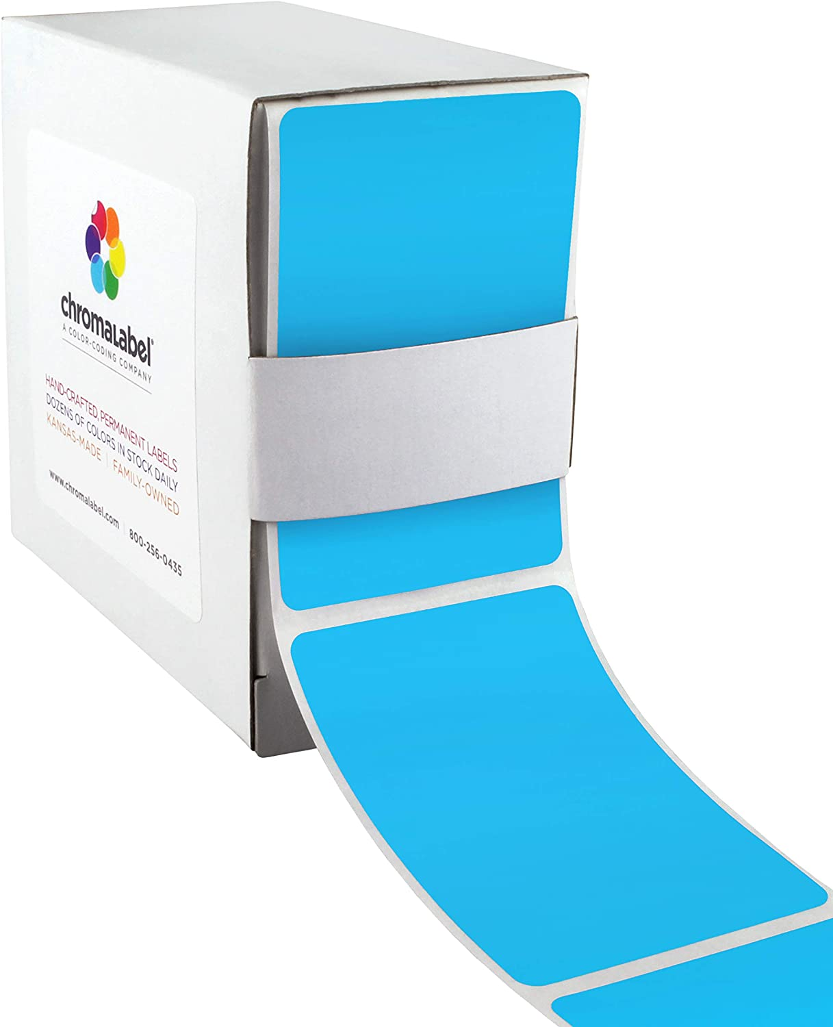 Amazon Com Chromalabel 2 X 3 Inch Color Code Labels 250 Dispenser Box Light Blue Office Products