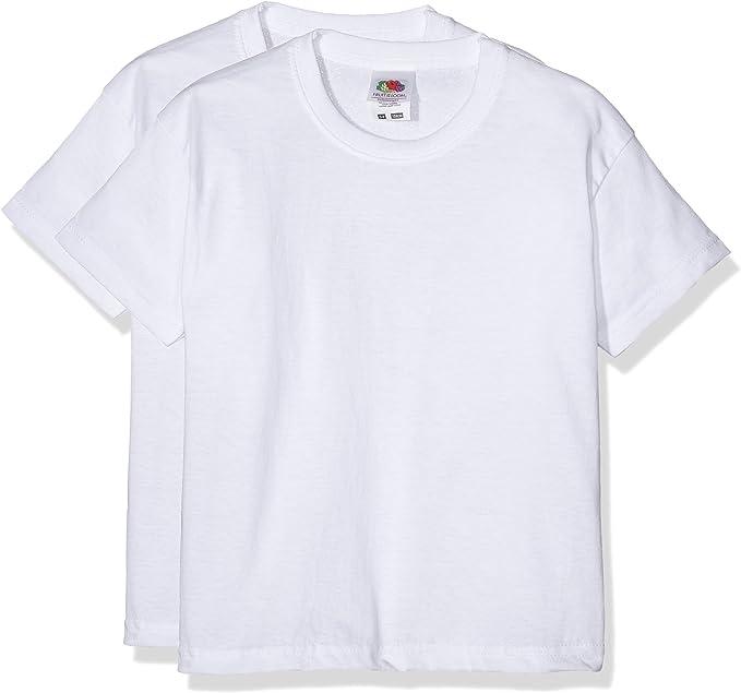 Fruit of the Loom 6103323 - Camiseta para niños, lot de 2: Amazon.es: Ropa y accesorios