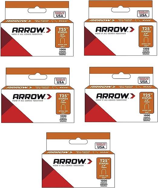 Arrow Fastener 256 3//8 T25 Staples