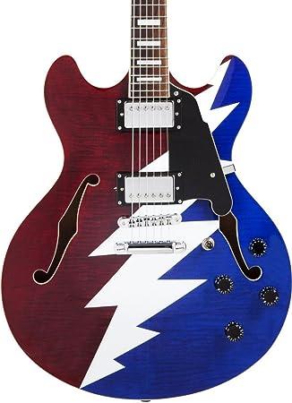 DAngelico Premier Grateful Dead DC Guitarra eléctrica semihueca ...