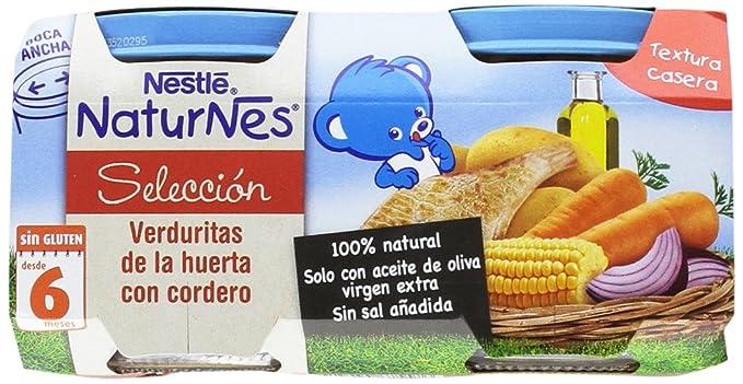 Nestlé Naturnes - Verduras con Cordero - Paquete de 2 x 200 g - Total: 400 g - [Pack de 5]