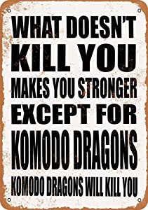 Retro Vintage Metal Signs Novelty Wall Plaque Wall Art Decor Accessories Gifts - Komodo Dragons Will Kill You. - 8