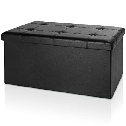 Prime Deuba Ottoman Storage Footstool Bench Folding Toy Box Chest Blanket Pouffe Stool Hallway Bedroom Living Room Seat 80 X 40 X 40 Cm Black Gmtry Best Dining Table And Chair Ideas Images Gmtryco