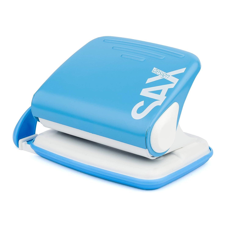 Sax Design 218 Schreibtischlocher rot 12 Blatt Locher