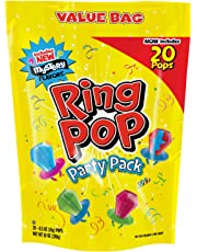 Ring Pop Individually Wrapped Bulk Variety Party Pack – 20Count Candy Lollipop Suckers w/ Assorted Flavors